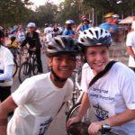 Everyone ready to go… Ankgor Bike Ride 2009